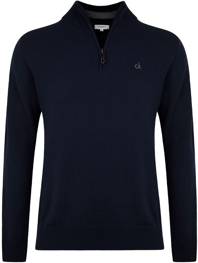 Calvin Klein Golf Superwool Zip Neck Sweater 37