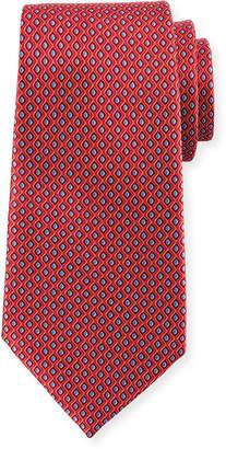 Ermenegildo Zegna Printed Diamonds Silk Tie