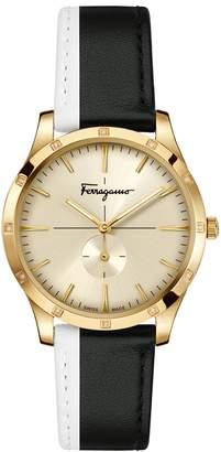 Salvatore Ferragamo Slim Formal Leather Strap Watch, 35mm