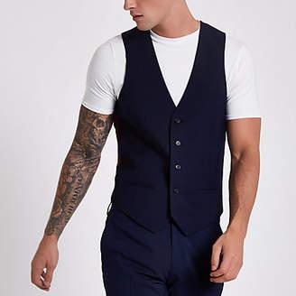 River Island Navy suit vest