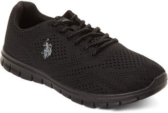 U.S. Polo Assn. Black Marie Mesh Low-Top Sneakers