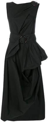 Isa Arfen asymmetric draped dress