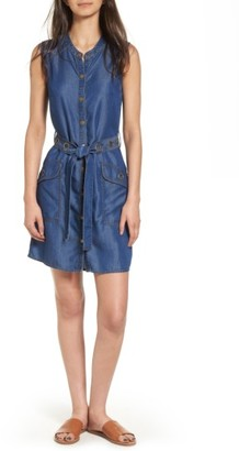 Women's Splendid Wilder Belted Denim Shirtdress $128 thestylecure.com