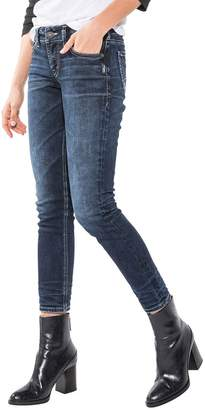 Silver Jeans Co. Women's Elyse Mid Rise Ankle Slim Jeans