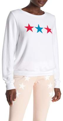 Wildfox Couture Super Stars Baggy Beach Pullover