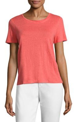 Eileen Fisher Organic Linen Jersey Tee $98 thestylecure.com