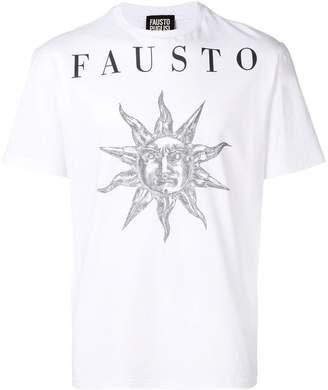 Fausto Puglisi sun print logo T-shirt