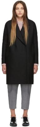 Harris Wharf London Black Oversized Fitted Coat