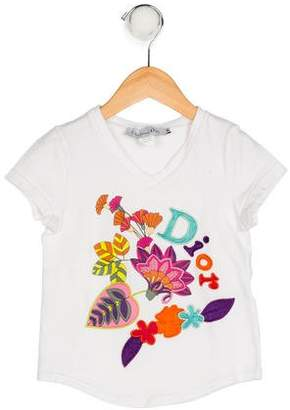 Christian Dior Girls' Embroidered Knit Shirt