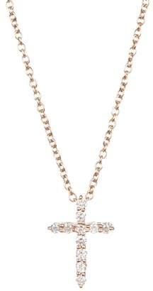 Bony Levy 18K Rose Gold Pave Diamond Cross Pendant Necklace - 0.10 ctw