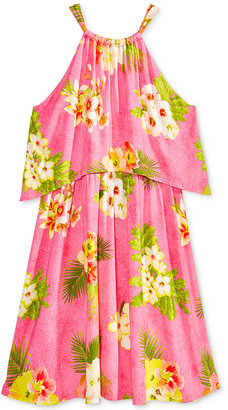 Kandy Kiss Tropical Popover Dress, Big Girls (7-16) $38 thestylecure.com