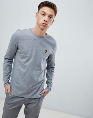 Lyle & Scott long sleeve logo t-shirt in gray
