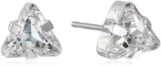 "Kris Nations Angel Fire"" Swarovski Crystal Large Triangle Stud Earrings"
