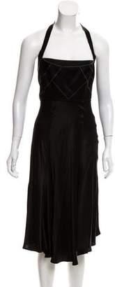 Just Cavalli Midi Halter Dress