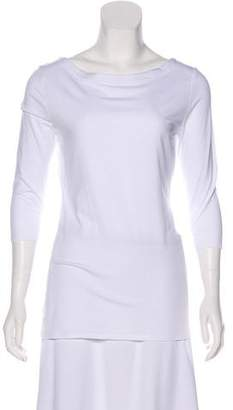 White + Warren Bateau Neck Top