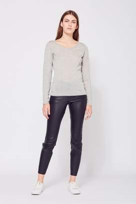 Amanda Wakeley Monroe Grey Cashmere Top