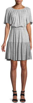 Rebecca Taylor Short-Sleeve Cutout-Back Jersey Dress