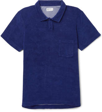 Universal Works Vacation Cotton-Blend Terry Polo Shirt - Men - Blue