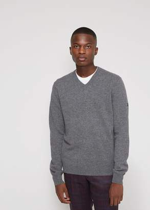Comme des Garcons Small Black Heart Sleeve V-Neck Pullover