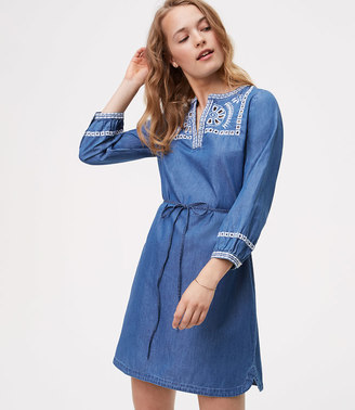 Chambray Embroidered Shirtdress $89.50 thestylecure.com