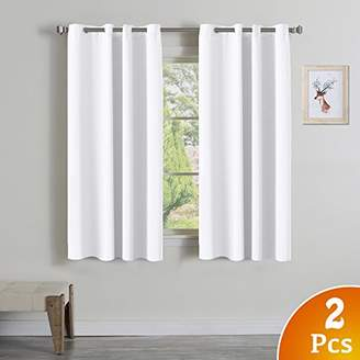 """Turquoize Pure White Grommet Curtains Themal Insulated Nursery & Infant Care Curtains Each Panel 52"""" W x 63"""" L (Set of 2 Panels)"""