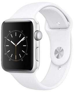 Apple Series 1 (42Mm) Watch With Silver Aluminium Case And White Sport Band