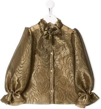 Dolce & Gabbana sheer silk blouse