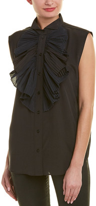 Givenchy Pleated Silk-Blend Tank