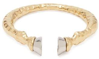 Burberry Hoof Two Tone Cuff - Womens - Silver Gold