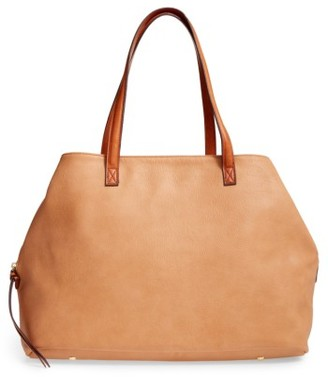 Sole Society Faux Leather Tote - Brown $69.95 thestylecure.com