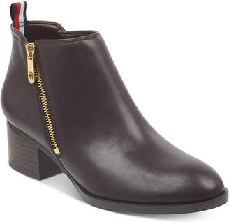 Tommy Hilfiger Women's Ruthee Block-Heel Ankle Booties Women's Shoes