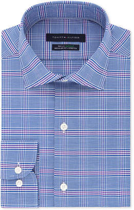 Tommy Hilfiger Men's Slim-Fit Th Flex Non-Iron Supima Stretch Check Dress Shirt