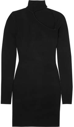 Dion Lee Cutout Stretch-knit Mini Dress - Black