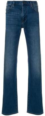 Emporio Armani stonewashed straight leg jeans