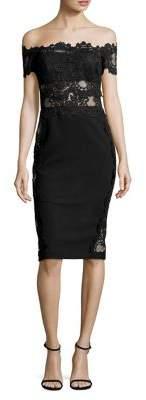 Nicole Bakti Off-The-Shoulder Lace Dress