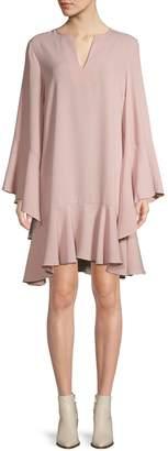 BCBGMAXAZRIA Flutter-Sleeve Shift Dress