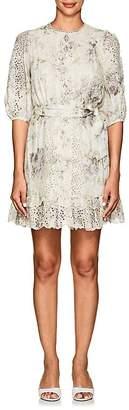 Zimmermann Women's Iris Floral-Print Linen Mini-Dress