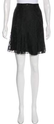 Chanel Pleated Lace Skirt