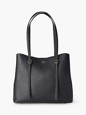 Ralph Lauren Polo Lennox Leather Tote Bag, Black
