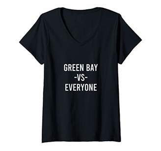 Victoria's Secret Womens Green Bay Everyone Sports Lover City Pride Gift V-Neck T-Shirt