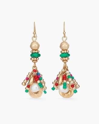 Multi-Colored Seed Bead Cluster Earrings
