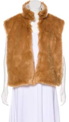 Mother Faux Fur Sleeveless Vest