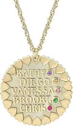 FINE JEWELRY Personalized Child Name Birthstone Cubic Zirconia Pendant Necklace