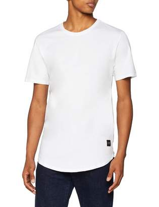 ONLY & SONS Men's T Shirt Longy Curved Hem Crew Neck