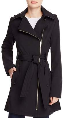 Via Spiga Asymmetric Front Belted Trench Coat