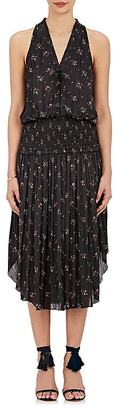 Ulla Johnson Women's Lucille Floral Satin Sleeveless Dress $530 thestylecure.com