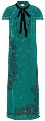Coach Embroidered midi dress