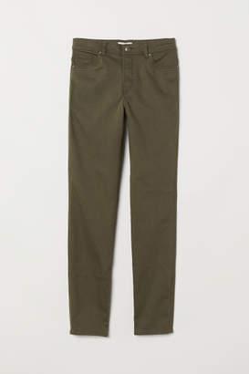H&M Pants Skinny fit - Green