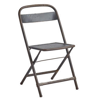 Rejuvenation Steel Folding Chair w/ Weathered Original Finish