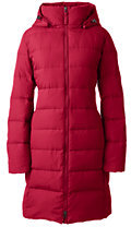 Lands' End Women's Tall Chalet Down Coat-Rich Red $199 thestylecure.com